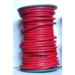 Rzemień 5 mm okrągły czerwony 0,5 metra
