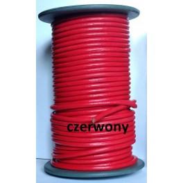 Rzemień 4 mm czerwony 0,5 metra