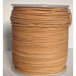 Rzemień skórzany 1,5mm okrągły naturalny nielakierowany 100 cm
