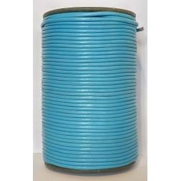 Rzemień 3 mm okrągły turkusowy 100 cm
