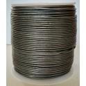 Rzemień 1,5 mm okrągły stalowy metalik 100 cm