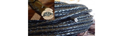 Rzemień skórzany, pleciony 8 mm